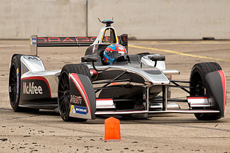 2015 Berlin ePrix - Loïc Duval finished third, his first podium finish in Formula E.