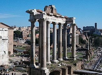 Foro romano tempio Saturno 09feb08 02.jpg