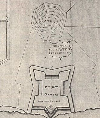 """Fort Gadsden - Map of Fort Gadsden, also showing the location of the original """"Negro Fort""""."""