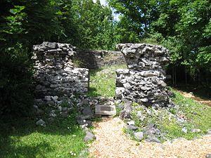 Fort Sullivan (Maine) - Remnants of powder magazine built during British occupation, 1814-18