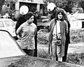 Founding co-editor of La Raza Ruth Robinson (right) with Margarita Sanchez at the Belmont High School walkout, part of a series of 1968 student protests for education reform in LA.jpg