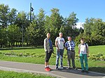 Four Wikimedians. Central Museum of the Great Patriotic War Wikitrip.jpg