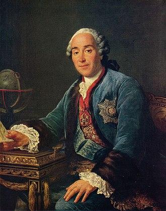 Dmitry Mikhailovich Golitsyn the Younger - A portrait by François-Hubert Drouais, 1762