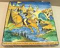 Francesco xanto avelli, mattonella con la lotta tra achille ed ettore, 1530-1550 ca.JPG