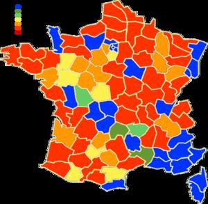 Mapa de ejecución de comunas de Francia