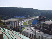 "The ""Raidillon"" in the Eau Rouge valley"
