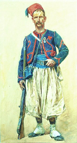Wide-leg jeans - French soldier wearing baggy Turkish style pants