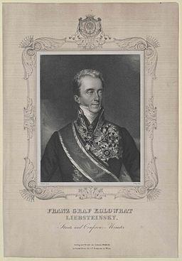 Franz Anton von Kolowrat-Liebsteinsky (1778–1861) engraving