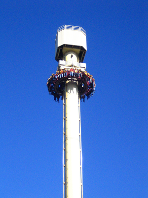Drop tower - The High Fall at Movie Park Germany