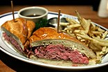 A French dip sandwich