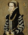 French School 16th c Portrait of a lady in a black and white dress.jpg
