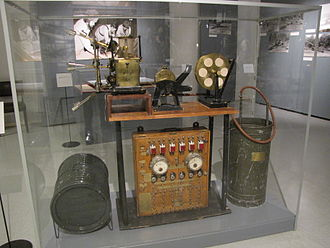 Artillery sound ranging - Recording unit of French sound ranging system from 1920s