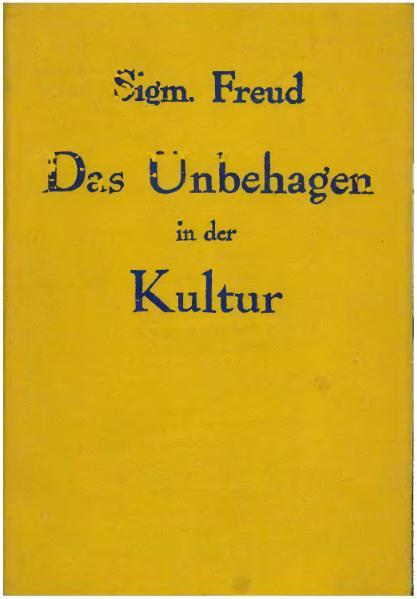 File:Freud 1930 Unbehagen in der Kultur.djvu