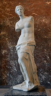 Ancient Greek marble statue of a woman