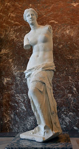Venus de Milo - Image: Front views of the Venus de Milo