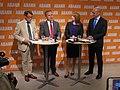 Göran Hägglund, Jan Björklund, Annie Lööf och Fredrik Reinfeldt, 2013-09-09 04.jpg
