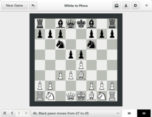 GNOME Chess - GNOME Chess in 2D view
