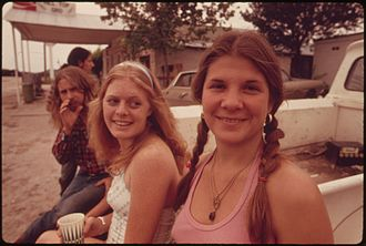 Youth - A group of teenagers in Texas, USA, May 1973. The term teenager is often considered synonymous with youth.