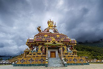 Nyingma - Statue of Padmasambhava, a central mytho-historical figure of the Nyingma tradition, Bhutan.