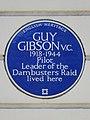 GUY GIBSON V.C. 1918-1944 Pilot Leader of the Dambusters Raid lived here.jpg
