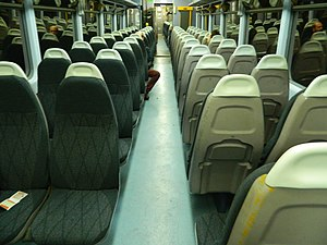 British Rail Class 143 - Image: GWR Class 143 Refreshed Interior