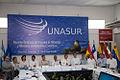 Galapagos - Ecuador 23 de Mayo del 2014. Rueda de Prensa de la sesión de trabajo de la Reunión de Ministras y Ministros de Relaciones Exteriores de Los países miembros del UNASUR. (14275183393).jpg