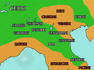 Insubres - The peoples of Cisalpine Gaul, 391-192 BC.