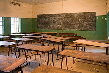 Classroom in Armitage boarding school/The Gambia