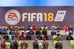 Gamescom EA Sports FIFA18 (36016647834).jpg