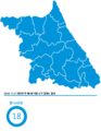 Gangwon-do Republic of Korea local election 2006.png