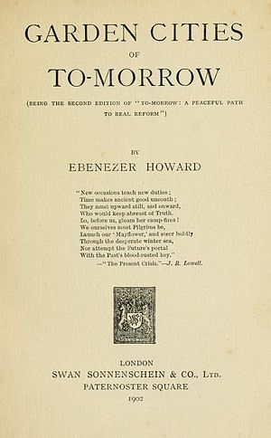 Garden Cities of To-morrow - Title page of second edition