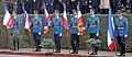 Gardisti sa zastavama odlikovanih brigada - Odbrana slobode 2019 Niš 1.jpg