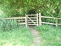 Gate as seen on the footpath from Northcroft Road to The Sun - geograph.org.uk - 1361654.jpg