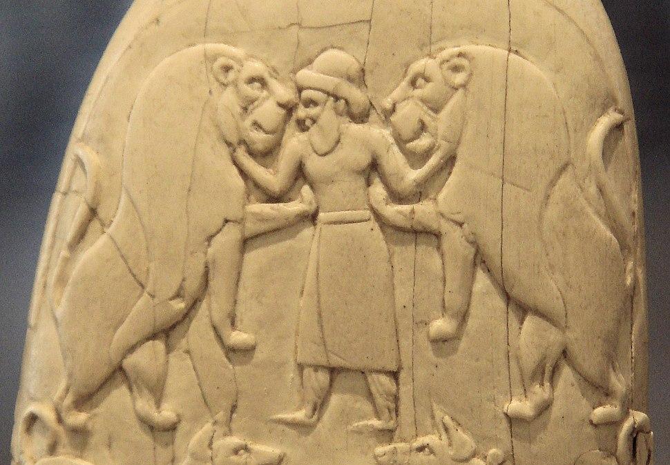 Gebel el-Arak Knife ivory handle (front top part detail)