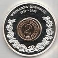 Gedenkprägung - Weimarer Republik 1919-1933, 2 Pfennig a.jpg