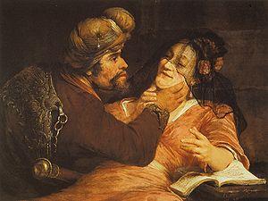 Tamar (Genesis) - Aert de Gelder,  Tamar and Judah,  1667