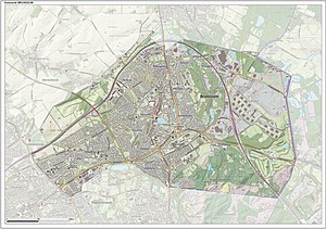 Brunssum - Dutch Topographic map of Brunssum, June 2015