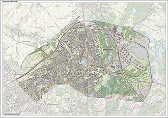 Brunssum - Dutch Topographic map of Brunssum, June 2015