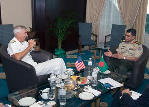 Shafiul Huq (general) - U.S. Pacific Commander, Admiral Samuel J. Locklear III meets with Bangladesh's PSO of Armed Forces Division, Lt. General Abu Belal Md. Shafiul Huq