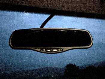 A Gentex auto-dimming car mirror.