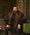 Georg pencz portrait of sigismund baldinger three-quarter-length seate).jpg