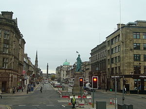 George Street, Edinburgh - View looking east along George Street, towards St Andrew Square