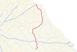 Georgia State Route 77 - Image: Georgia state route 77 map