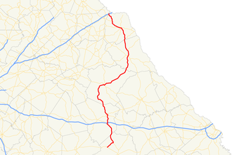Georgia State Route 77 - Image: Georgia state route 77 map
