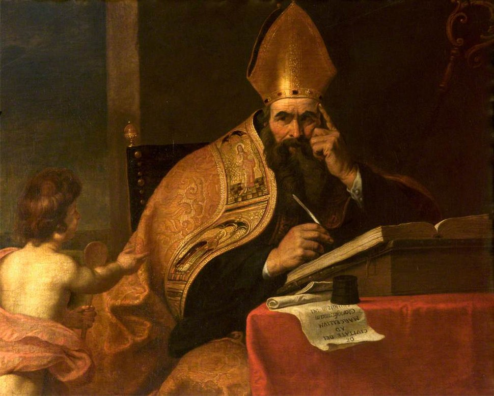 Gerard Seghers (attr) - The Four Doctors of the Western Church, Saint Augustine of Hippo (354–430)