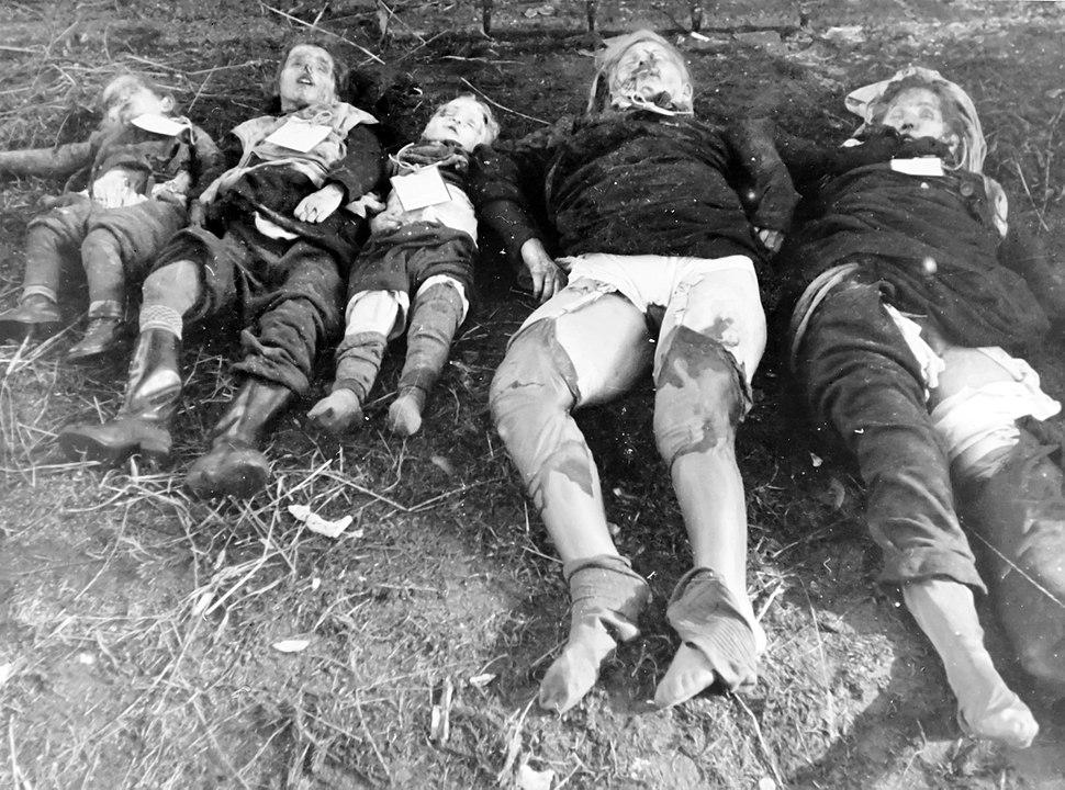 Germans killed by Soviet army