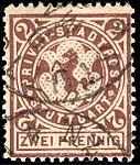 Germany Stuttgart 1890-99 local stamp 2pf - 12b used.jpg