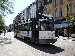 Trams in Ghent - A Euro PCC tram operating route 4.