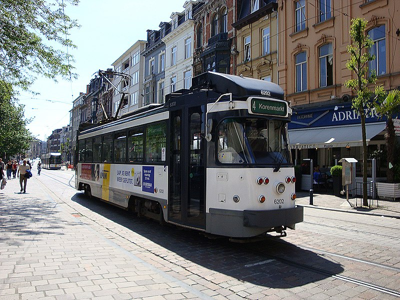 Gent (Belgium): A Euro PCC tram operating route 4