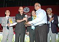 Ghulam Nabi Azad presented the ICMR awards to distinguished scientists, at a function, in New Delhi. The Minister of State for Health & Family Welfare, Shri A.H. Khan Choudhury and the Secretary.jpg